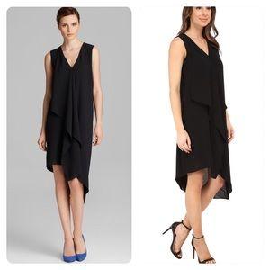 NWT! Adrianna Papell  Asymmetric Front Drape Dress